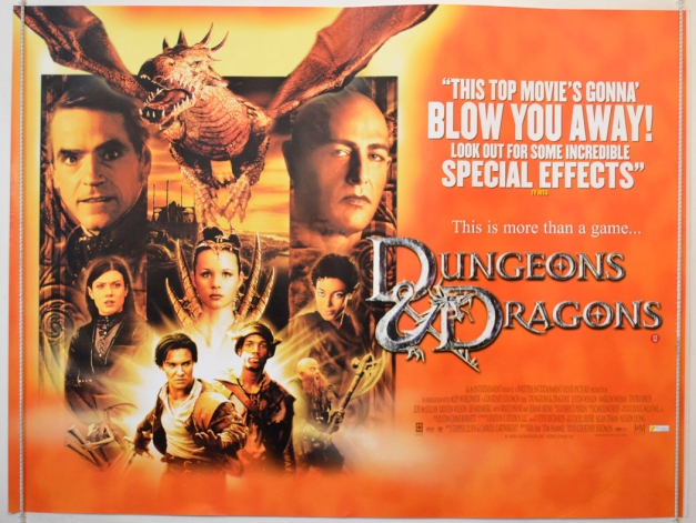 Dungeons And Dragons : Cinema Quad Poster